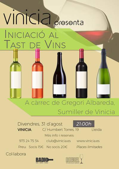 Iniciació al tast de vins