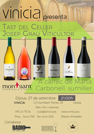 Tast de vins del Celler Josep Grau Viticultor