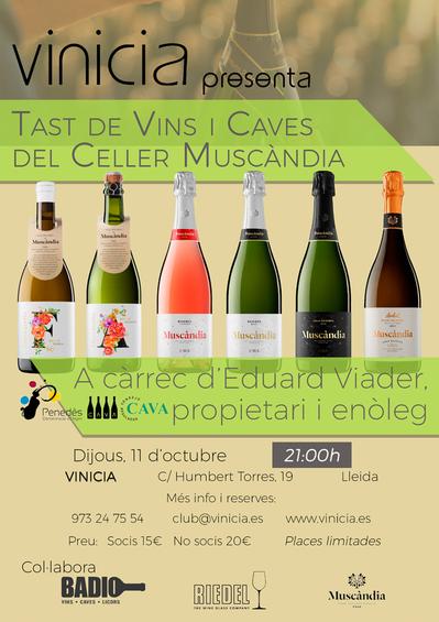 Tast de vins i caves del Celler Muscàndia