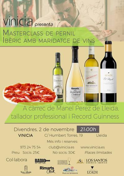 Masterclass de pernil ibèric amb maridatge de vins