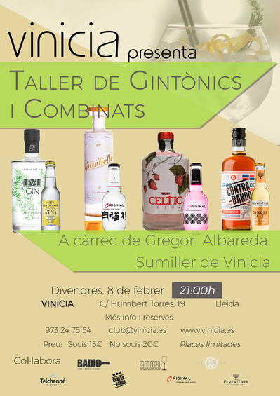 Taller de gintònics i combinats