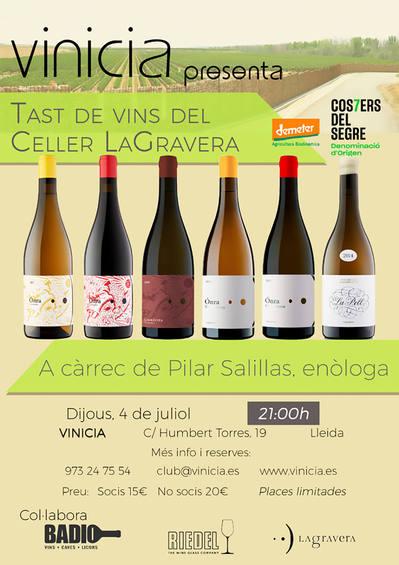 Tast de vins de Celler LaGravera