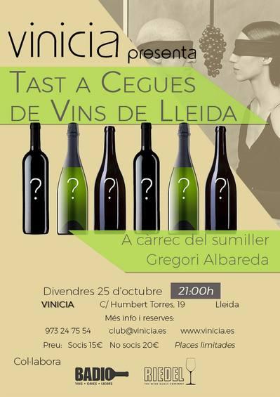 Tast a cegues de vins de Lleida