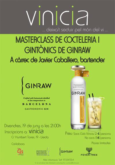 Masterclass de cocteleria i gintònic GinRaw