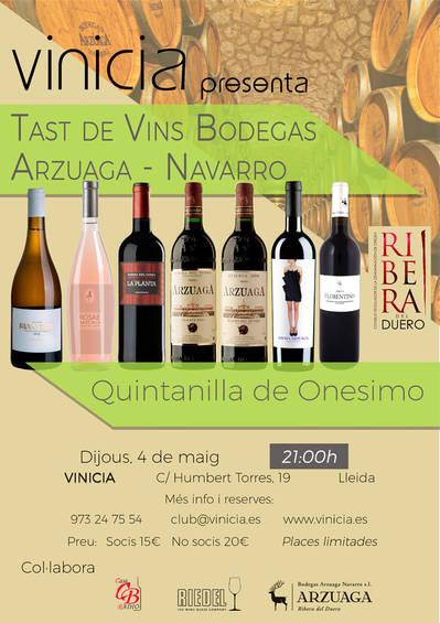Tast de Vins de Bodegas Arzuaga-Navarro