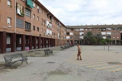 El barrio de los albergues provisionales de las afueras