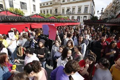 Manifestación de estudiantes contra el machismo en las aulas