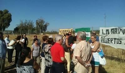 Vecinos reclaman huertos urbanos en el Cordel de Écija
