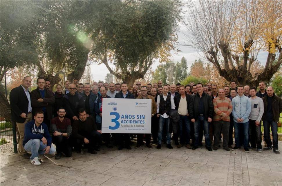 La fábrica de cementos Cosmos en Córdoba celebra tres años sin accidentes