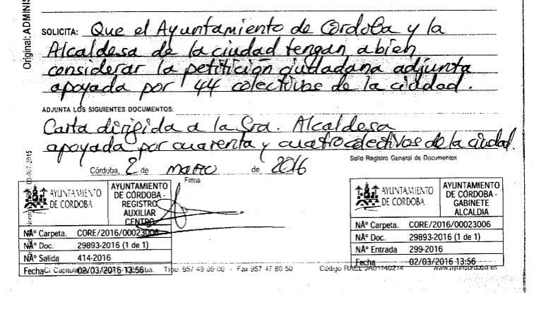 SOLICITUD PARA QUE LA MEZQUITA-CATEDRAL SIGA SIENDO PÚBLICO