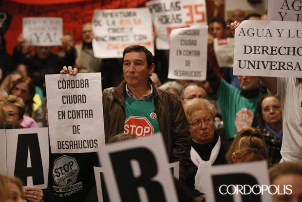 """El Pleno declara a Córdoba """"ciudad contra los desahucios"""""""