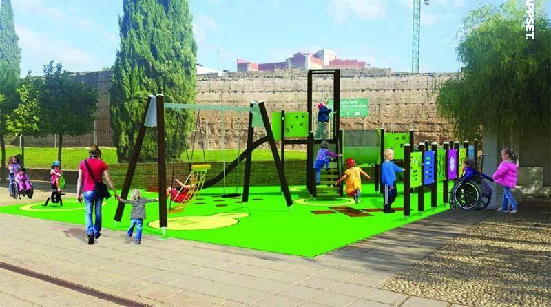 El Ayuntamiento recuperará el parque infantil del Jardín de los Poetas