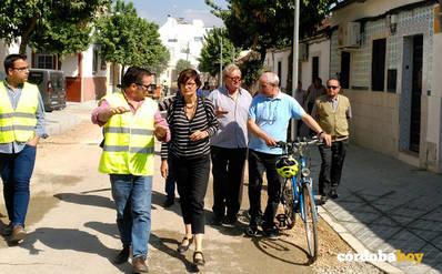 Las obras de la calle Montilla están al 50 por ciento de ejecución