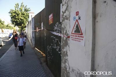 Urbanismo urgirá a la propiedad a actuar sobre el muro de San Eulogio que puede venirse abajo