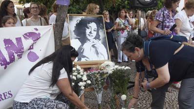 Concentración en recuerdo de Soledad Donoso