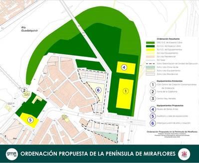 Urbanismo entierra el solar del Palacio del Sur y reordenará Miraflores con más espacios públicos