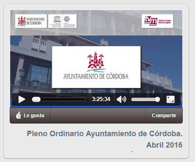 VIDEO: Pleno Ordinario Ayuntamiento de Córdoba. Abril 2016