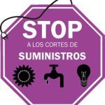 Protestas en contra de los cortes de suministros