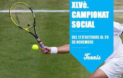 XLVè. Campeonato Social de tenis