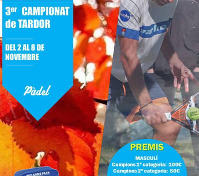 TERCER CAMPIONAT DE TARDOR DE PÀDEL