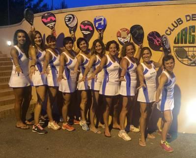 El equipo femenino de pádel A, este fin de semana en la Copa Catalunya