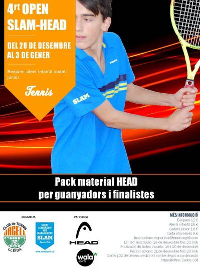 ARRIBA L'OPEN SLAM DE TENNIS