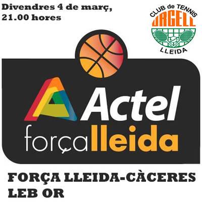 El URGELL ESTARÁ PRESENTE EN ACTEL FUERZA LLEIDA-CÁCERES