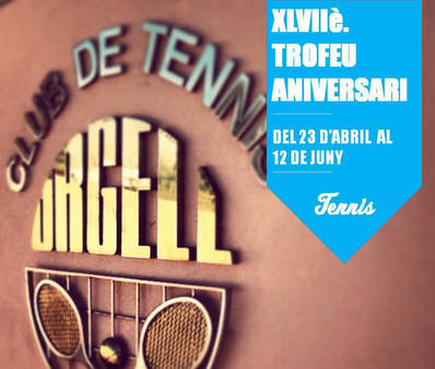 Las inscripciones para el Trofeo Aniversario CT Urgell, hasta el 15 de abril