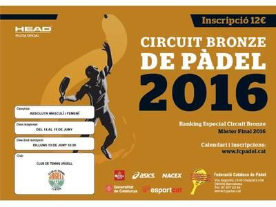 CUADROS DEL CIRCUITO PADEL BRONCE 2016