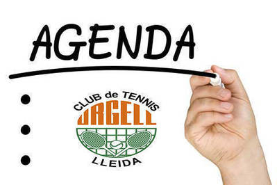 AGENDA TENNÍSTICA DEL CAP DE SETMANA