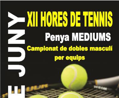 Las XII Horas de Tenis, el sábado 10 de junio