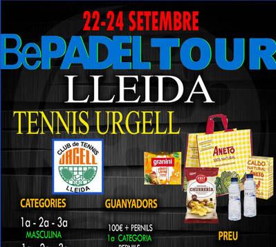 INSCRIPCIONES ABIERTAS AL BEPADEL TOUR DEL CT URGELL