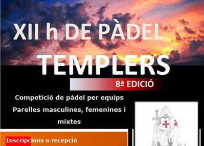 EL PÁDEL TEMPLARIOS, EL 9 DE SEPTIEMBRE EN EL URGELL