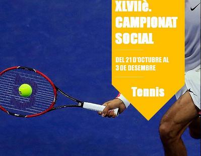 INSCRIPCIONS CAMPIONAT SOCIAL DE TENNIS