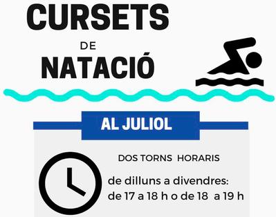 INSCRIPCIONES ABIERTAS CURSOS DE NATACIÓN EN JULIO