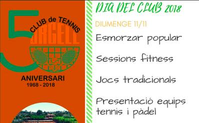 TODA LA INFORMACIÓN DEL DÍA DEL CLUB 2018: 11/11/2018