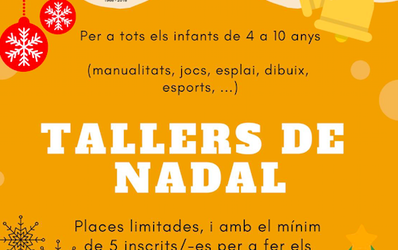TALLERES DE NAVIDAD PARA LOS MÁS PEQUEÑOS EN EL URGELL