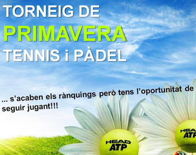 El Torneo de Primavera Tenis y Pádel, del 13 de mayo al 8 de junio