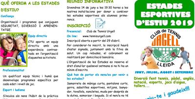Estancias Deportivas en el Urgell, no te las puedes perder