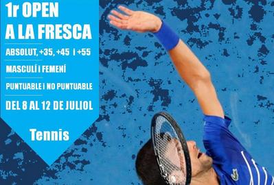 La primera edición del Open a la Fresca de tenis, del 8 al 12 de julio