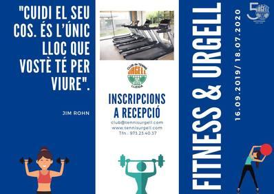 El CT Urgell ya tiene a punto las actividades de fitness para la nueva temporada