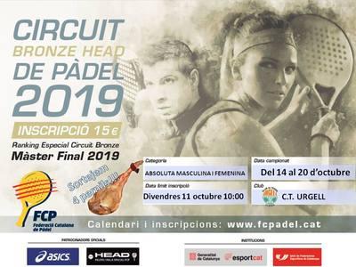 El Circuito Bronce Head de Pádel llega del 14 al 20 de octubre en el CT Urgell