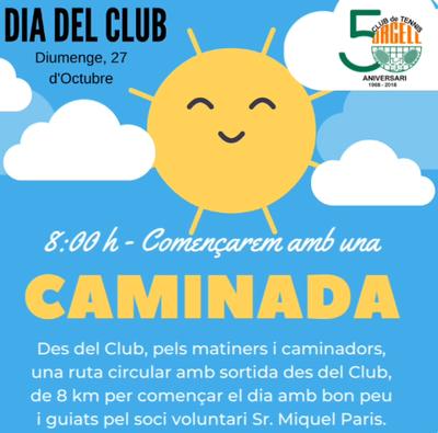 El Tenis Urgell celebra el domingo 27 de octubre el Día del Club