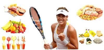 Programa de nutrición en el tenis de competición
