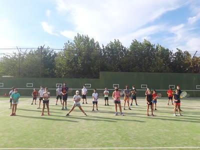 Iniciamos los entrenamientos de los grupos de competición de tenis