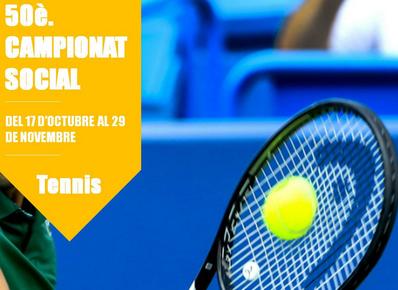 El Campeonato Social de Tenis llega a su 50ª edición del 17 de octubre al 29 de noviembre