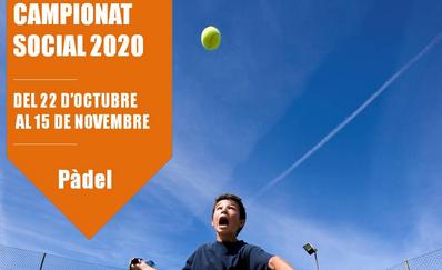 Inscripciones abiertas para el Campeonato Social de Pádel