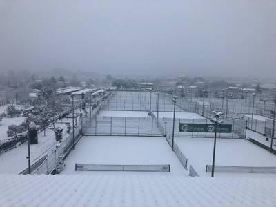 Imágenes del paso de la nieve por el Club -enero de 2021-