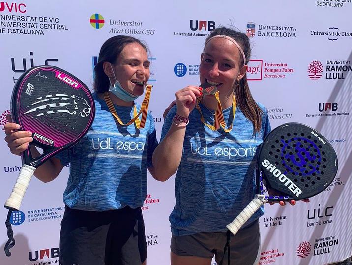Ares Llobera, campeona de Catalunya de Padel Universitario en Vic