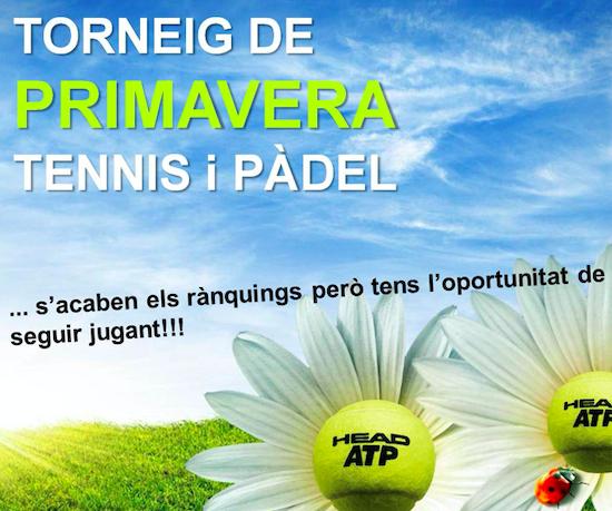 Inscripciones abiertas Torneo Primavera de pádel y tenis 2021